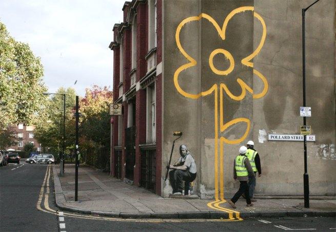 flower banksy