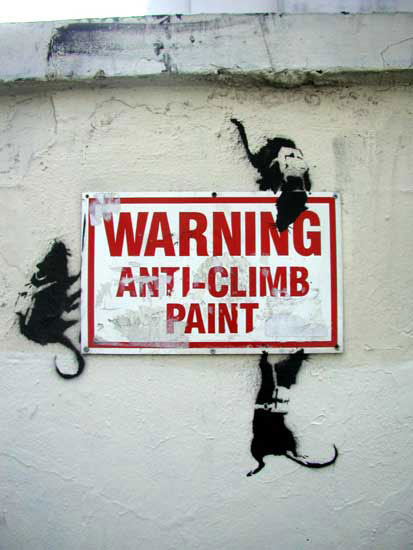 ratssign banksy