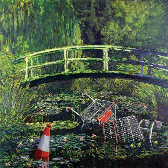 waterlilies banksy