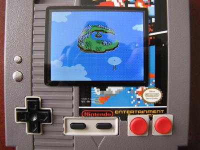 Con los botones de NES